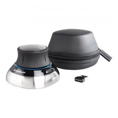 Mouse Wireless Óptico Led Spacemouse Cinza e Preto 3dx-700066 3dconnexion