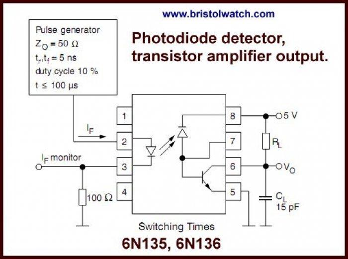 6N136 TRANSISTOR O//P OPTOCOUPLER VISHAY SEMICONDUCTOR
