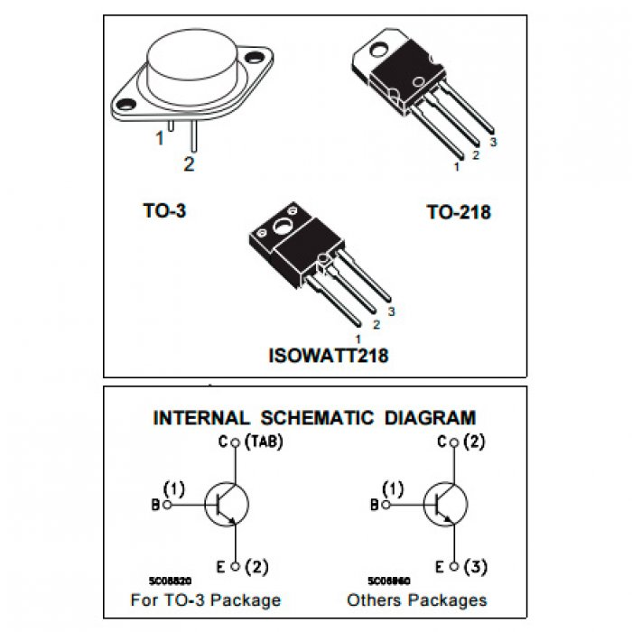 Bdx67c Transistor Darlington To-3