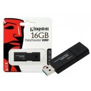 DT100G3/16GB Pen Drive Kingston 16GB USB3.0 Geração 3
