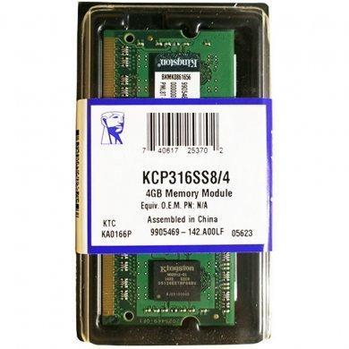 Memória Ram 4gb Ddr3 1600mhz Kcp316ss8/4 Kingston