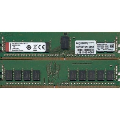 Memória Ram 16gb Ddr4 2400mhz Ksm24rd8/16mei Kingston
