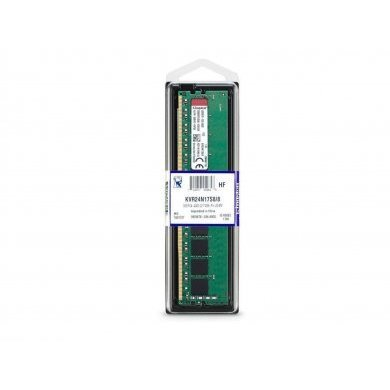 Memória Ram 8gb Ddr4 2400mhz Kvr24n17s8/8 Kingston