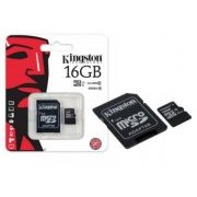 SDC10G2/16GB Cart�o Micro SDHC Kingston 16GB