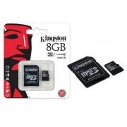 SDC10G2/8GB Cartao Micro SDHC Kingston 8GB Classe 1