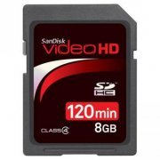 SDSDHV-008G-A15 Cart�o de Mem�ria SanDisk Video HD SDHC 8GB C